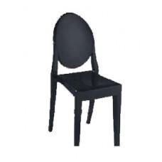 Black Louis Ghost Chair