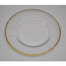Gold Rimmed Plate Charger