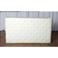 White Leather tufted Bar