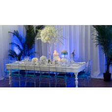 Royal White Lacquer Table
