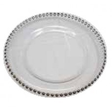 Silver Rimmed Charger Plate